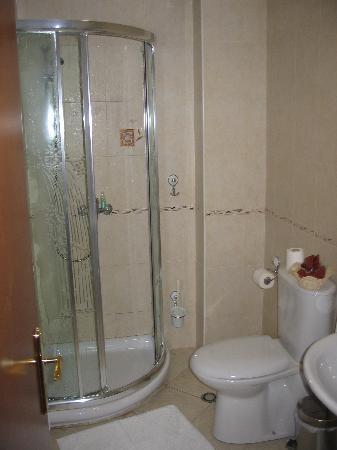 Hotel Arber: the bathroom.