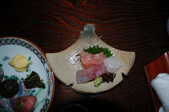 Ryori Ryokan Komakusa: sashimi as part of meal - very fresh