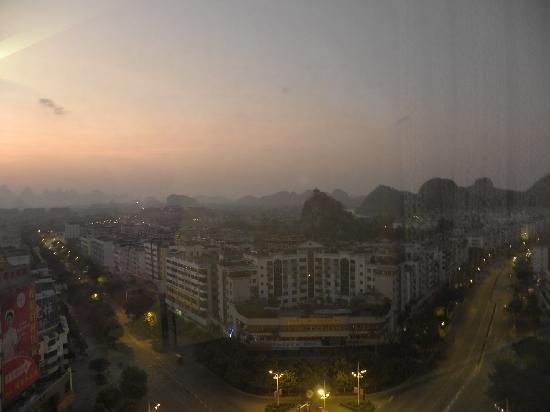 Baigong Boutique Hotel Guilin: 部屋の窓から見た景色