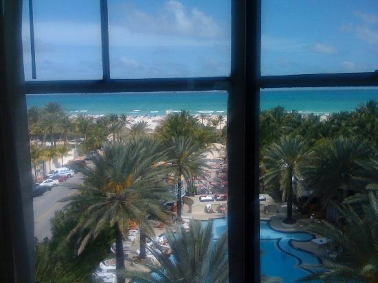 The Raleigh Miami Beach: The view of the pool and the ocean.