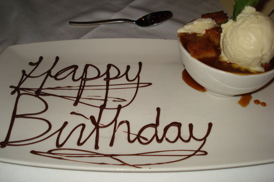 Besh Steakhouse at Harrah's: Birthday Bread Pudding