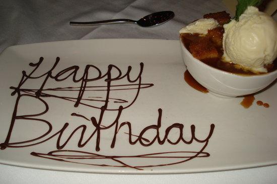 Besh Steakhouse at Harrah's : Birthday Bread Pudding