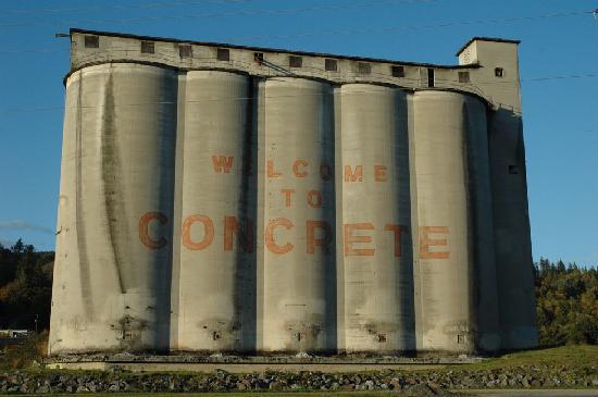 Ovenell's Heritage Inn: Concrete silos in Concrete, WA (where else!)