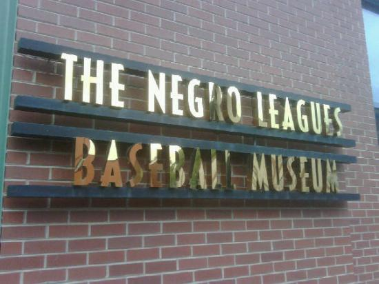 Negro Leagues Baseball Museum: This was the only picture I could take -- no cameras allowed inside.