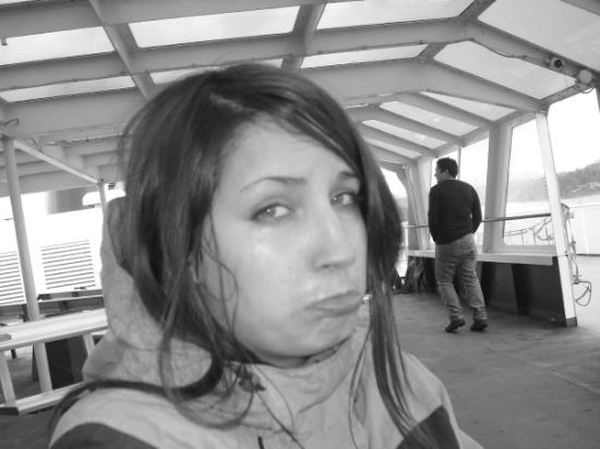 Nanaimo, Kanada: It was freakin cold up top...very windy + very rainy = pouty face lol
