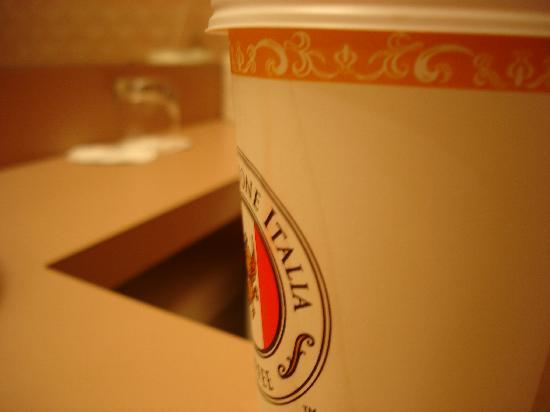Coast Edmonton Plaza Hotel: If you look close you can see the stain on the cup (not from me - yuck)