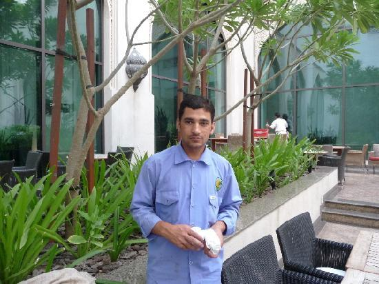 Manzil Downtown Dubai: A hard working gardener
