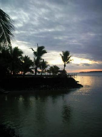 Samoan twighligt - view from my fale