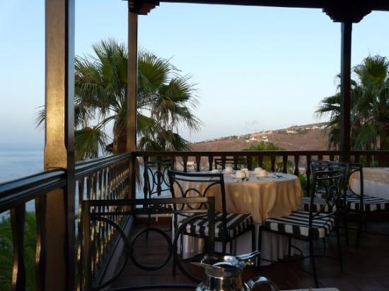 La Gomera, Espagne : Outdoor restaurant Hotel Jardin Tecina