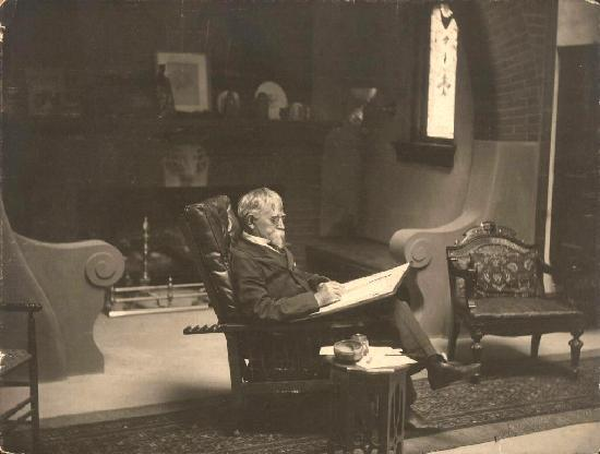 General Lew Wallace Study and Museum: General Lew Wallace at work inside his Study.