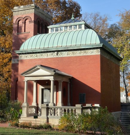 "Crawfordsville, IN: General Lew Wallace's beloved Study, what he called the ""pleasure house for [his] soul."""