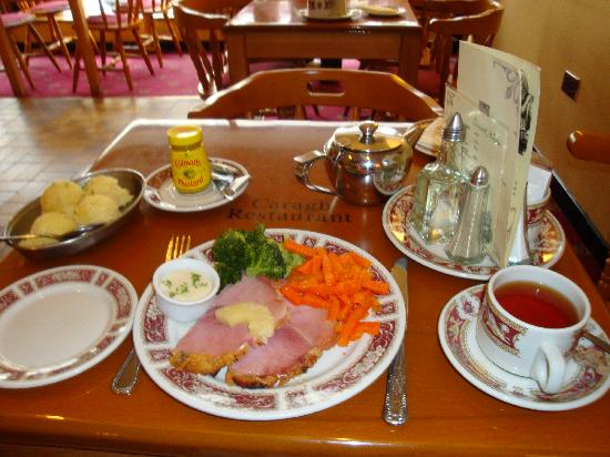"Caragh Restaurant : Good home cooking - ""small portion"" Ham Dinner"