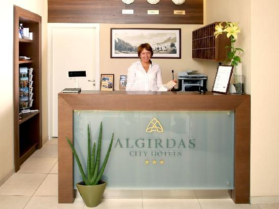 Algirdas City Hotels: Reception
