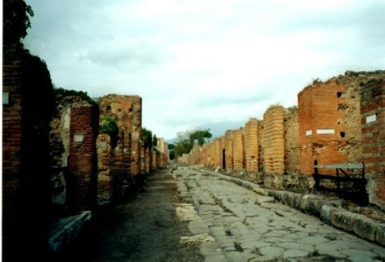 This was a mall in Pompeii, this place had bars, bakeries, shops, the houses even had running wa