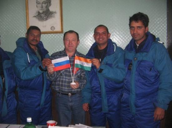 Davis: With Leader of Russian Antarctic Station NOVO