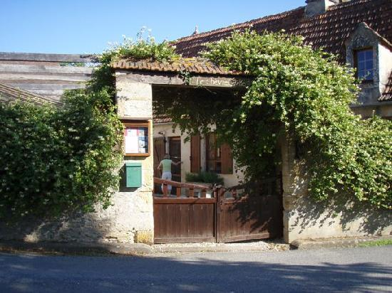 Saint-Cyprien, France: Warm entrance in tiny village with plenty of strolling available.