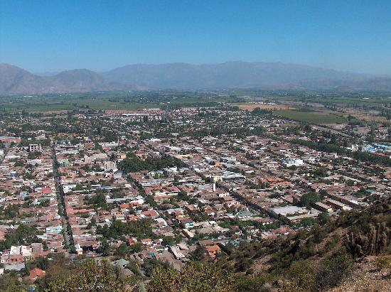 Hotel Los Andes: View of the town from Cerro de la Virgen