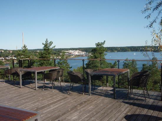Nacka, Sweden: Lac face à l'hôtel