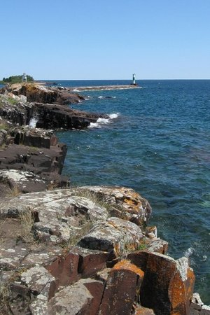 Grand Marais, MN : This is what the lake looked like one day last week.