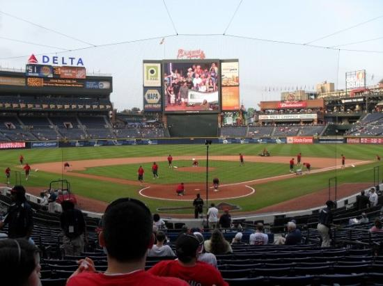 Hank Aaron Seats Behind Home Plate Picture Of Turner Field