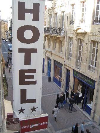 Hotel Gambetta : Hotel sign