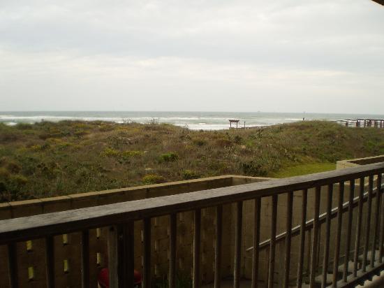 Sea Gull Condominiums: Rear patio view from 1st floor condo