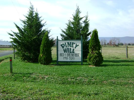 Piney Hill Bed & Breakfast: Sign