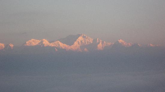 Seven Seventeen: Glittering KanchanJunga from Tigerhill just after sunrise