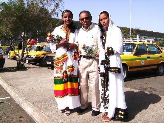 Z Guest House: Big Brother Tadesse with my Fiance Betelhem and Sisther Rhut