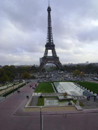 Torre Eiffel,  y Campos de Marte, París