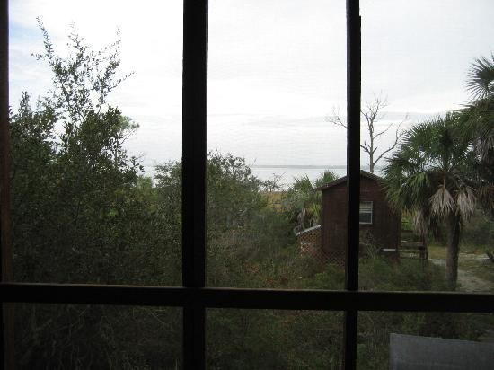 Old Saltworks Cabins: Our view from our cabin on the bay