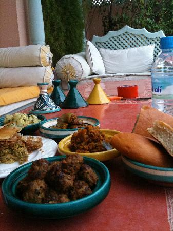 Lunch on the roof at Riad Anabel