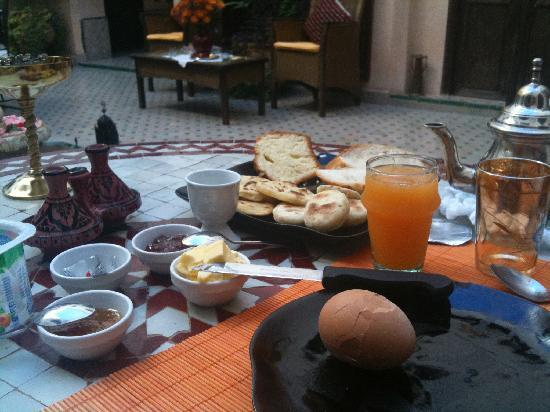 Breakfast at Riad Anabel