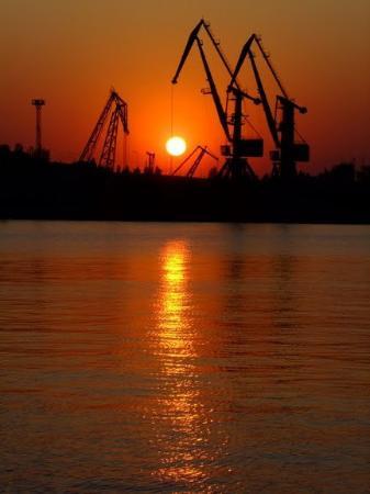 The Odessa Port: порт вечером