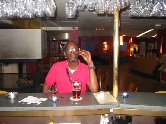 Clarion Hotel Grand Ostersund : A snifter of Remy Martin Louis XIII Grande Congnac @ $125.00 a pour, Cuban cigar, Hell beer. All
