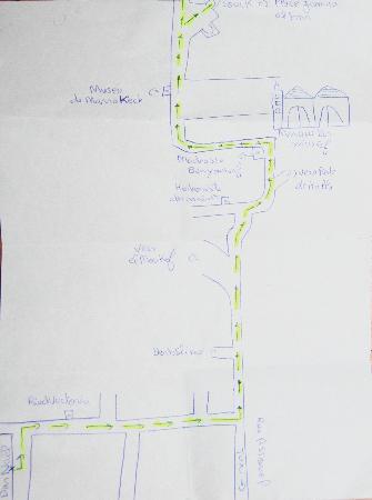 Riad Dar Nael: Mapa para llegar desde la Madrasa
