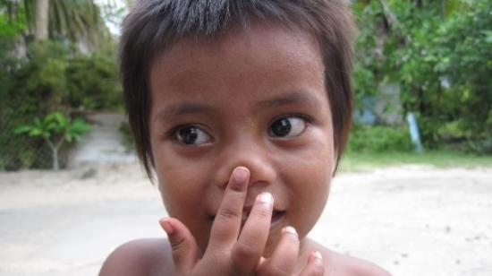 Tarawa Atoll, Republic of Kiribati: Betio kid, Tarawa.