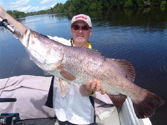 Clearwater Island Lodge : Clearwater Lodge Barramundi 106cm