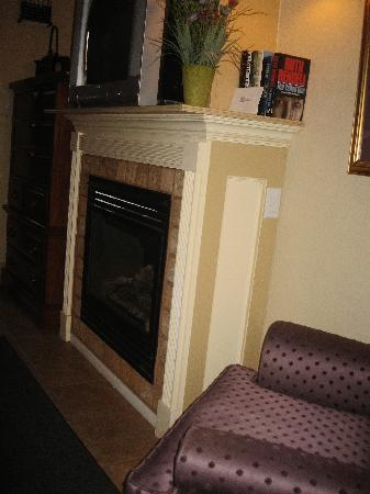 Cozy Suites Inn: Fireplace - London Bridge Room