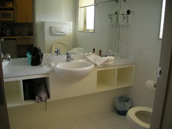 Shoreline Motel Napier: Bathroom, shower is to the left out of view