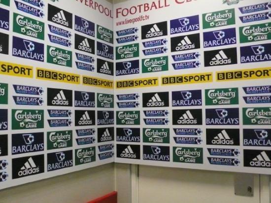 Anfield Stadium Interview Background