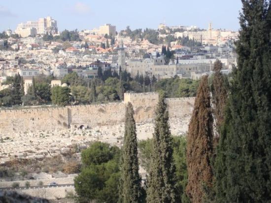 เขามะกอกเทศ: The Golden/Susa Gate by which Jesus left the Temple on His triumphal entry...it faces the Mount