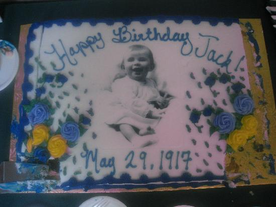 Brookline, MA : Birthday Cake with JFK at 3 years old