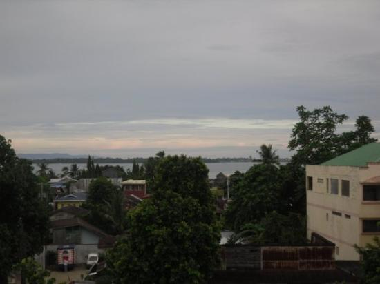 A view from the 5th floor observation deck of the Hotel Alejandro in Tacloban City. The hotel di