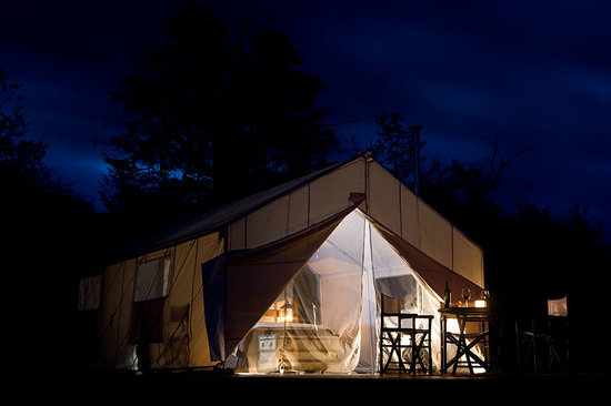 Campo Cielo Grande: Night time in the tent