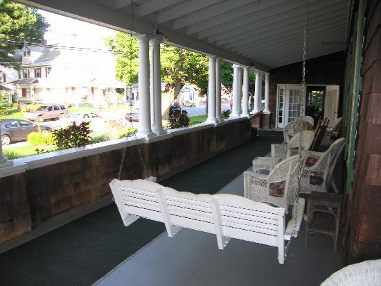 The Crafts Inn: The inn has a porch to sit on