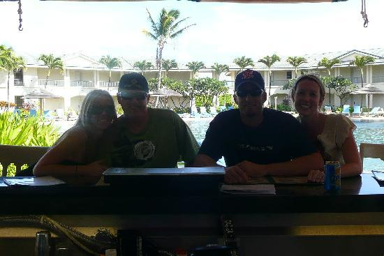 The Point at Poipu: Sitting at the bar and grill with the pool in the background