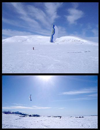 Bear Lodge Resort: Snowkiting in the Big Horn Mtns