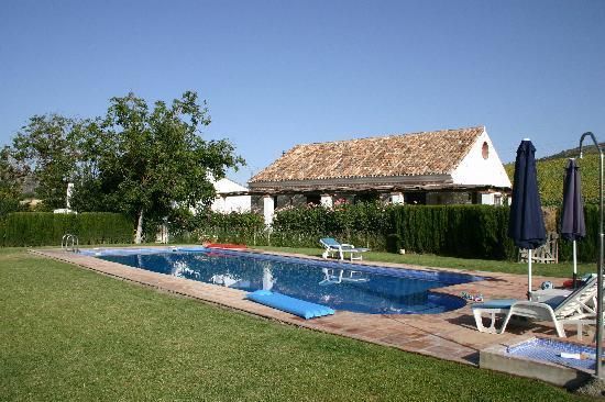 Finca Retama Farmstead: Vue depuis la piscine