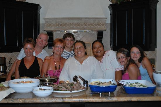 Villas Del Mar at Palmilla: Our private chefs with the family